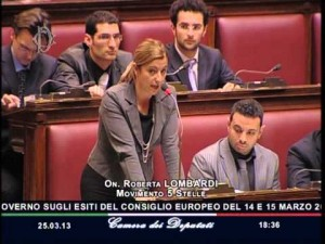 Roberta Lombardi alla Camera