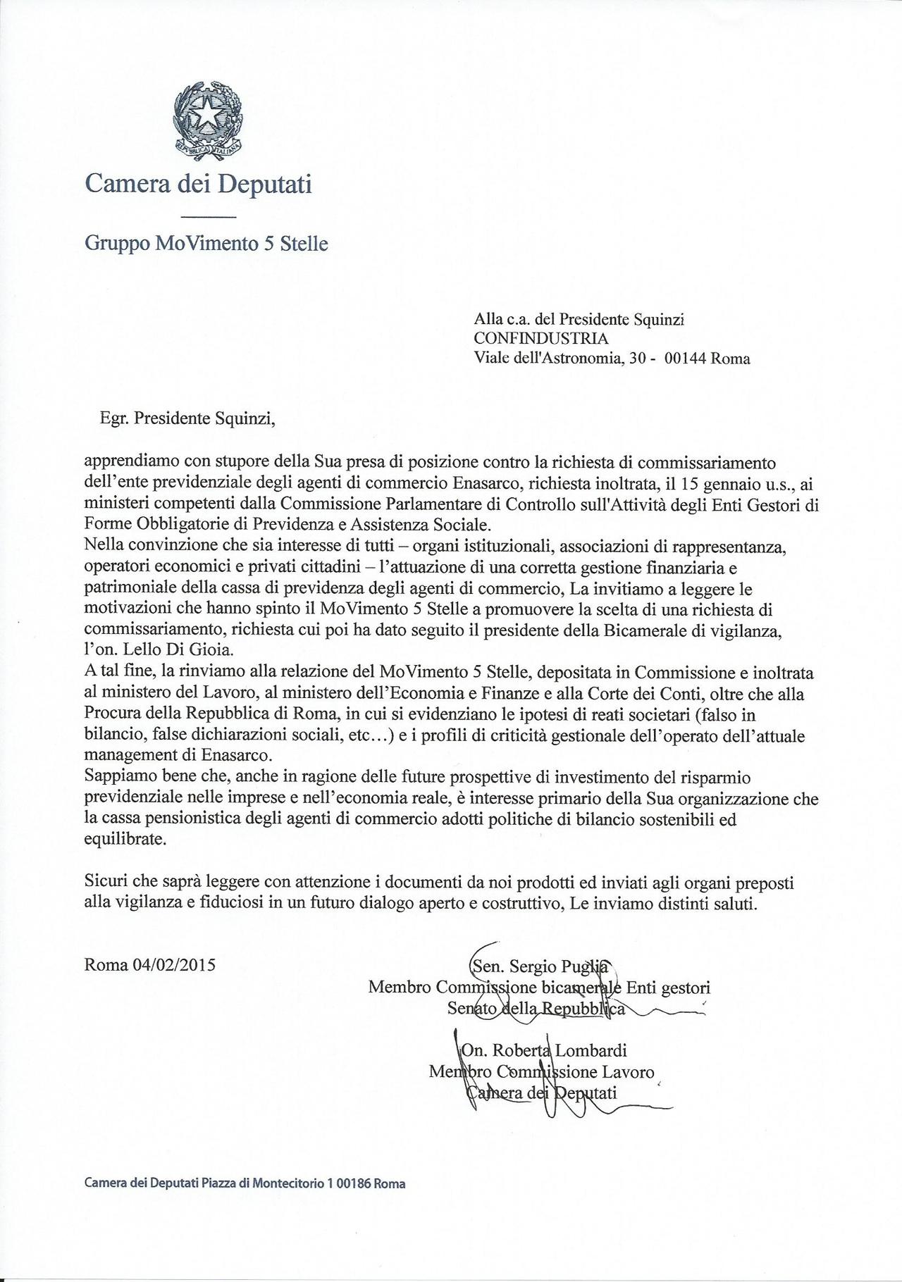 lombardi_puglia_lettera_presidente_squinzi