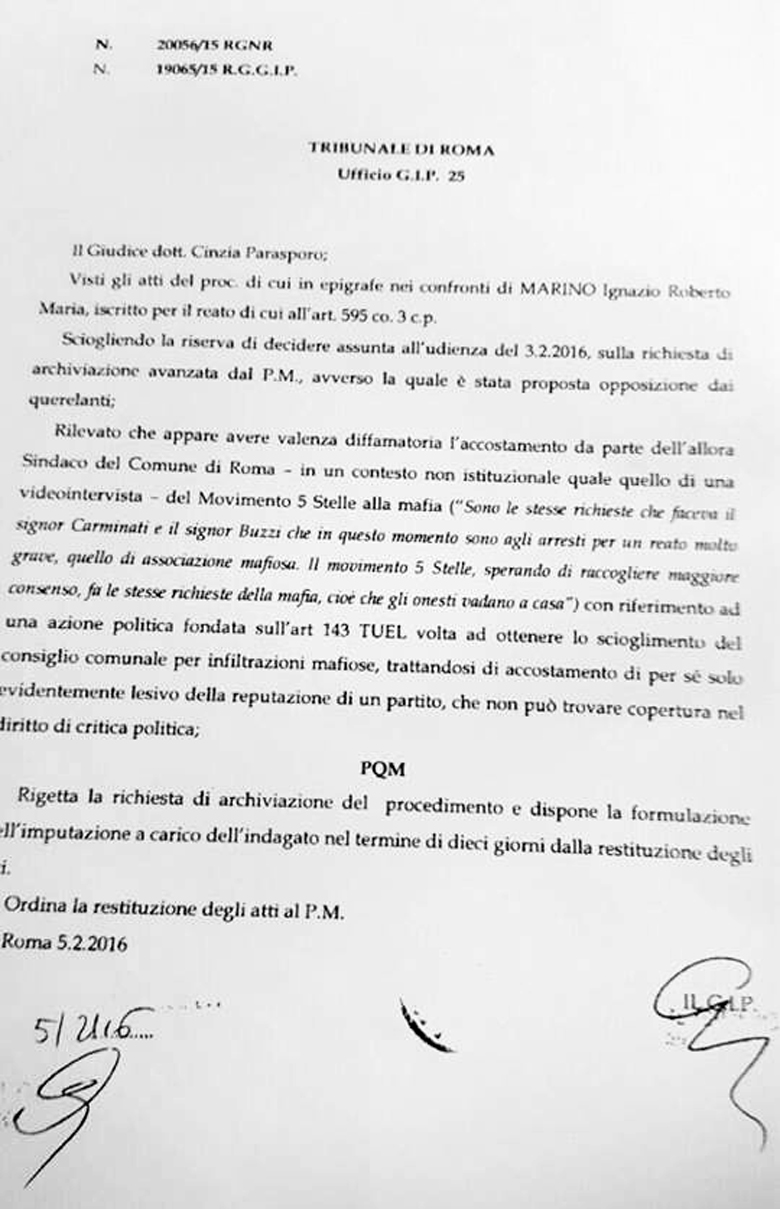 documento tribunale