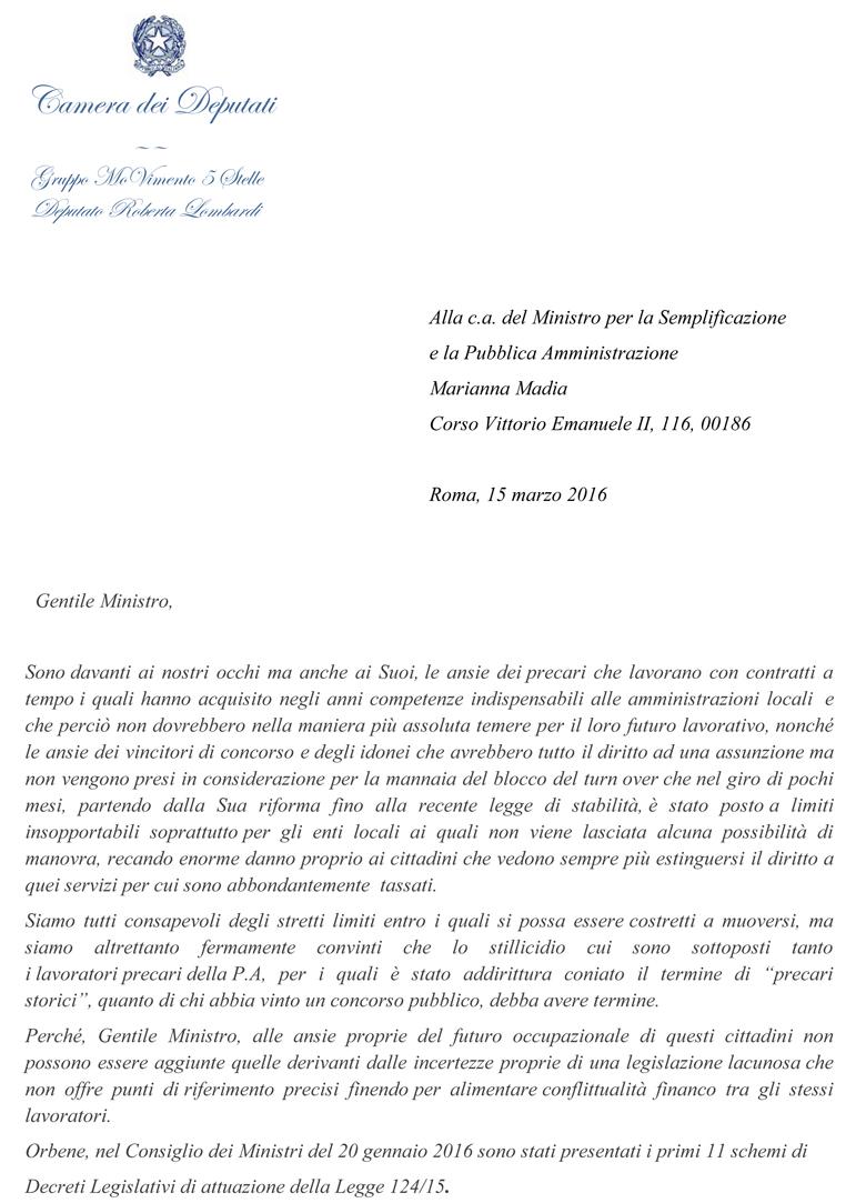 lettera precari storici pag 1